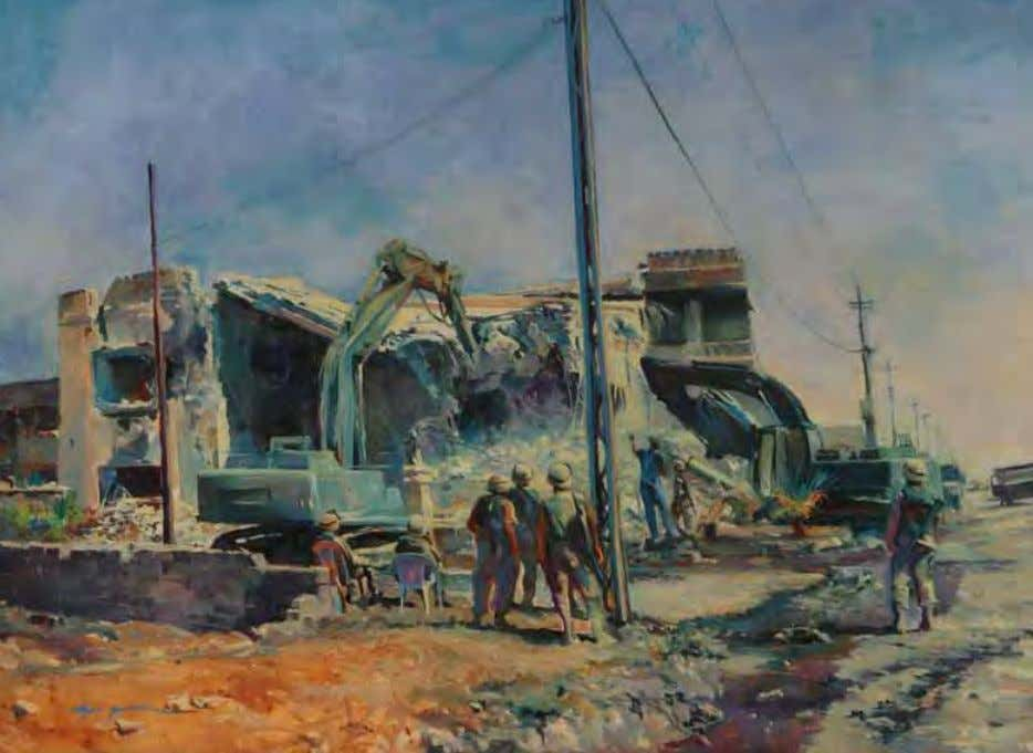 Martyrdom Denied (alternate title Deterrent at Mosul ) by Elzie Golden Iraq, 2005 Oil on