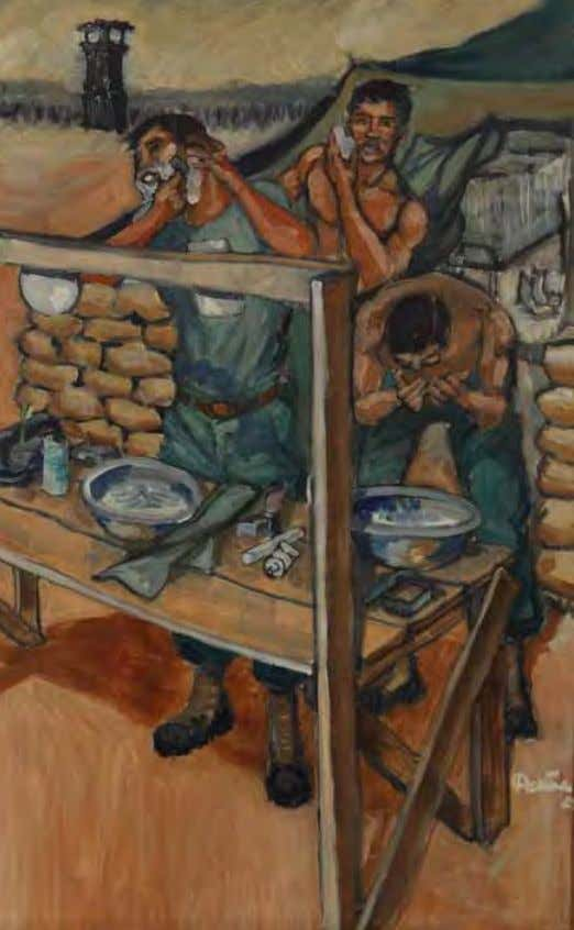 Morning Ritual by Augustine G. Acuña vietnam, 1966 Oil on canvas In ThE ArTIST'S oWn