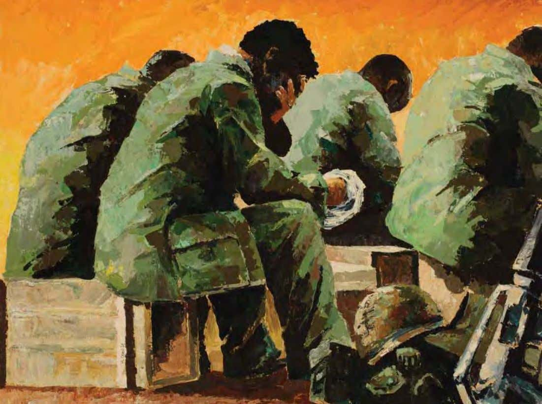 Easter Sunrise by Michael R. Crook vietnam, 1967 Acrylic on canvas The 1st Cavalry Division