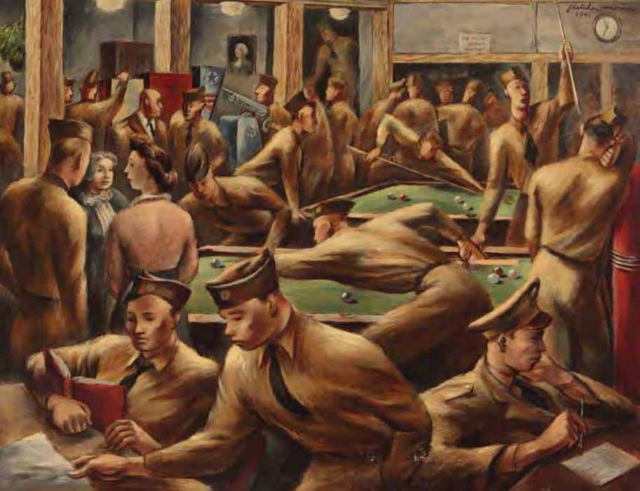 Service Club by Fletcher Martin United States, 1941 Oil on canvas From after supper until