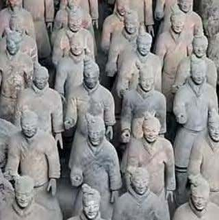 Eretria, ca.100 BCE; Naples National Archaeological Museum Chinese Terracotta Warriors from Xian, 200 BCE, photograph