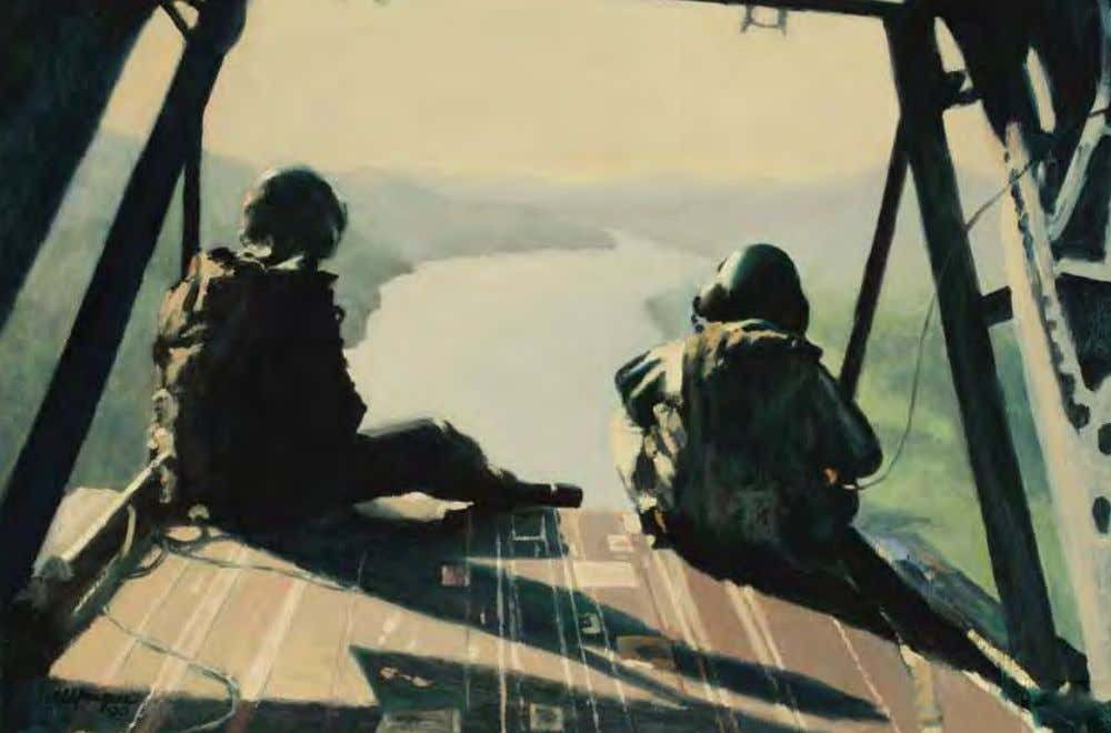 Cruising the Panama Canal (Chinook) by Al Sprague Panama, 1990 Oil on canvas In ThE