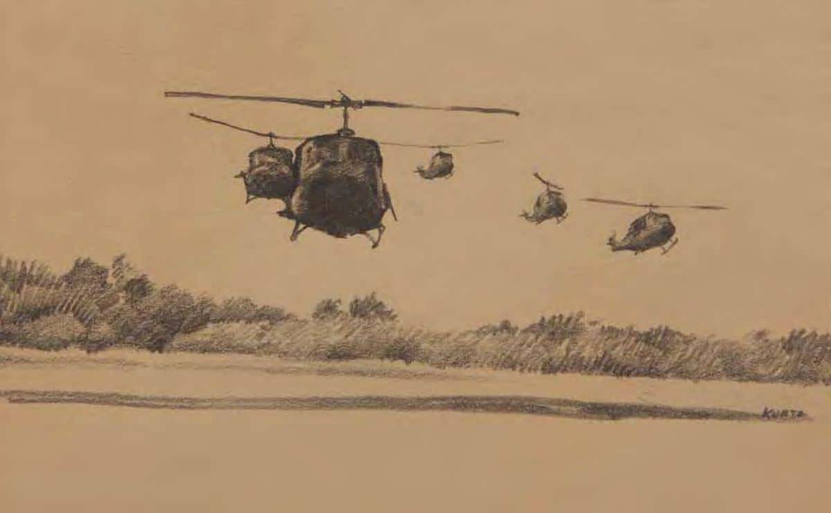 Choppers by John D. Kurtz vietnam, March 1968 Pencil on paper In ThE ArTIST'S oWn