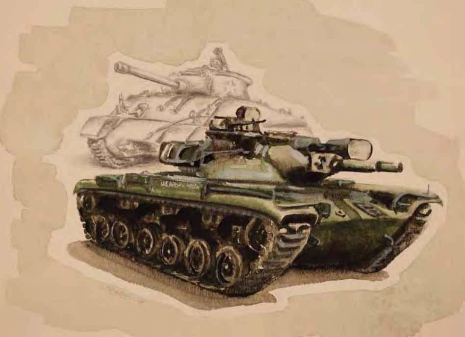 Sketches of Tanks by Roderick Schenken Panama, ca. 1975 Watercolor/pencil on paper In ThE ArTIST'S
