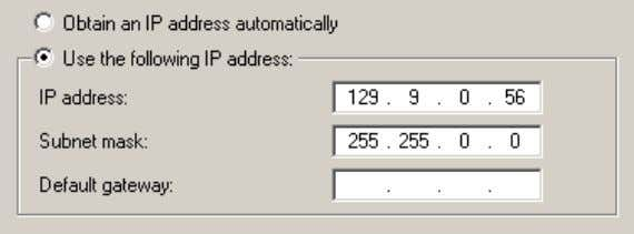 Step 10 In the Subnet mask field, enter 255.255.0.0 . CAUTION When configuring the Use the