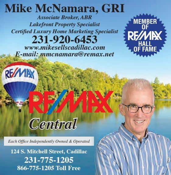 Mike McNamara, GRI Associate Broker, ABR Lakefront Property Specialist Certified Luxury Home Marketing Specialist