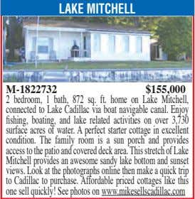 LAKE MITCHELL M-1822732 $155,000 2 bedroom, 1 bath, 872 sq. ft. home on Lake Mitchell,