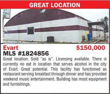 "GREAT LOCATION Evart $150,000 MLS #1824856 Great location. Sold ""as is"". Licensing available. There is"