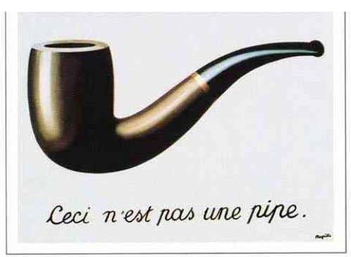 "TO A ""WHAT"") VS. MAGRITTE (REAFFIRMS THE ICONIC REFERENCE AND NEGATES IT WITH THE SENTENCE) WASSILY"