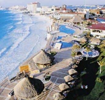 N.H. KRYSTAL CANCUN Located on the white sand shores of Punta Cancun, this hotel offers