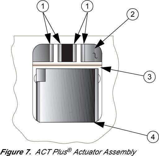 1 1 2 3 4 Figure 7. ACT Plus ® Actuator Assembly