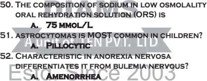 50. The composition of sodium in low osmolality oral rehydration solution (ORS) is a. 75