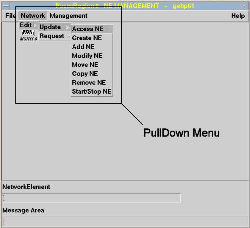 MANAGER - OPERATOR'S HANDBOOK USER'S INTERFACE Menus Pull-down Menus A pull-down menu is at the top