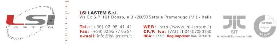 Sonda anemometrica a filo caldo Hot wire anemometer Manuale Utente User's Manual Versione/Update 23/02/2011 Cod.