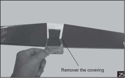 Remover the covering 25
