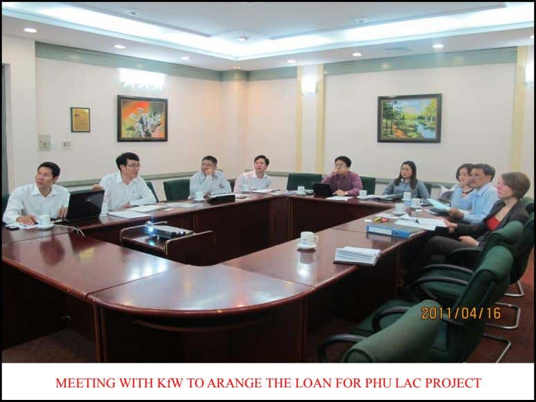 MEETING WITH KfW TO ARANGE THE LOAN FOR PHU LAC PROJECT