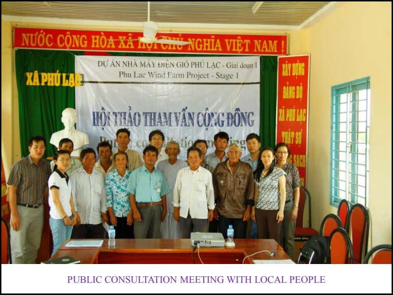 PUBLIC CONSULTATION MEETING WITH LOCAL PEOPLE