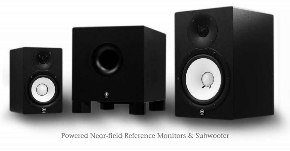 Powered Near-field Reference Monitors & Subwoofer