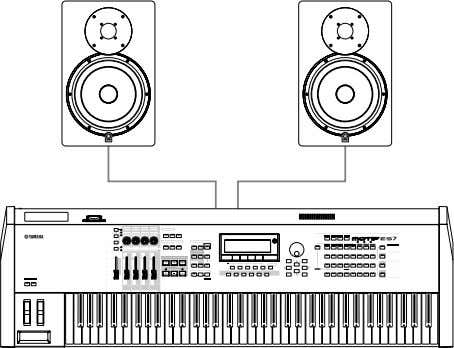 electronic keyboard or other electronic musical instrument. Speaker Placement Speaker placement is one of the most