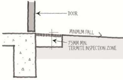 enable home occupants to easily enter and exit the dwelling. Figure 1(a) Threshold treatment: incorporates grated