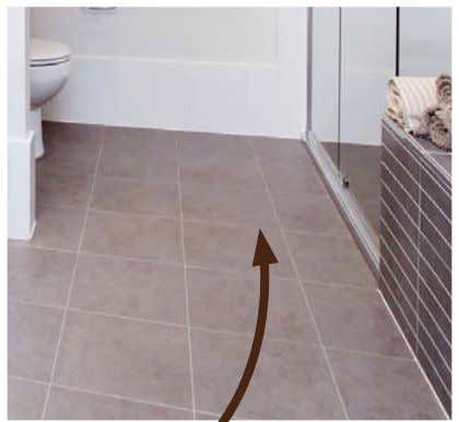 for easy and independent access for all home occupants. Floors in shower recesses need to be