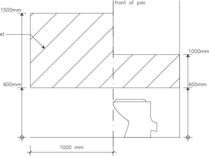 Figure 6(a) Toilet – Location of noggings Figure 6(b) Toilet – Location of sheeting Performance Statement
