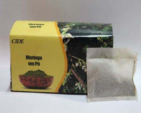 two types of packing for moringa Leaf Powder, using locally available materials with the pack- Photos:
