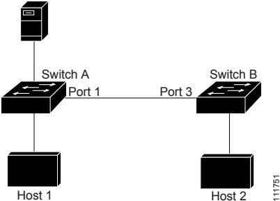 Switch A Switch B Port 1 Port 3 Host 1 Host 2 111751