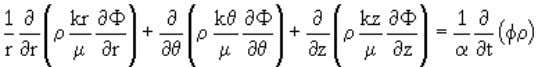 coordinate system, this equation becomes < (3.13) In a radial co-ordinate system, it takes the form