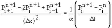 finite difference analogue to Equation 4.12 is: < (4.15) It is obvious that Equation 4.15 has