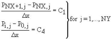 Figure 7 In this case, finite-difference representation of the boundary conditions is as follows: < (4.24)