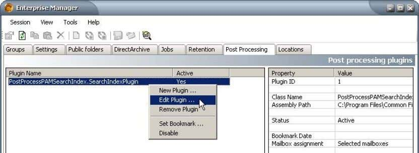 Right-click it and in its context menu click Edit Plugin . In the Plugin properties window