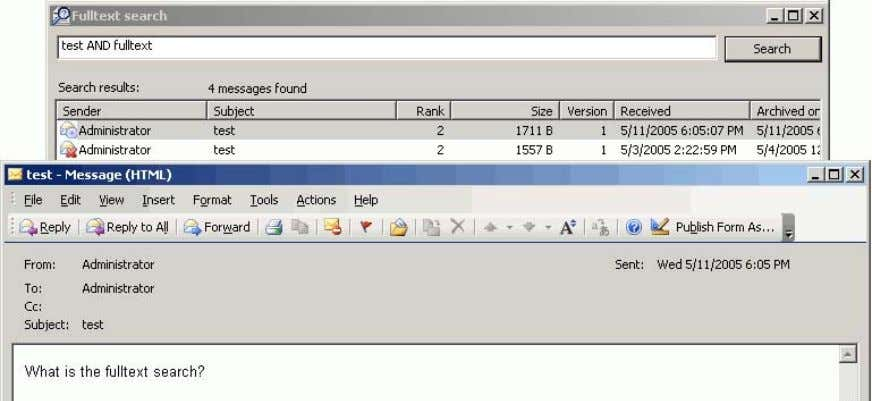 searches for documents containing all the given words. Sunbelt Search for Sunbelt Exchange Archiver 4.2