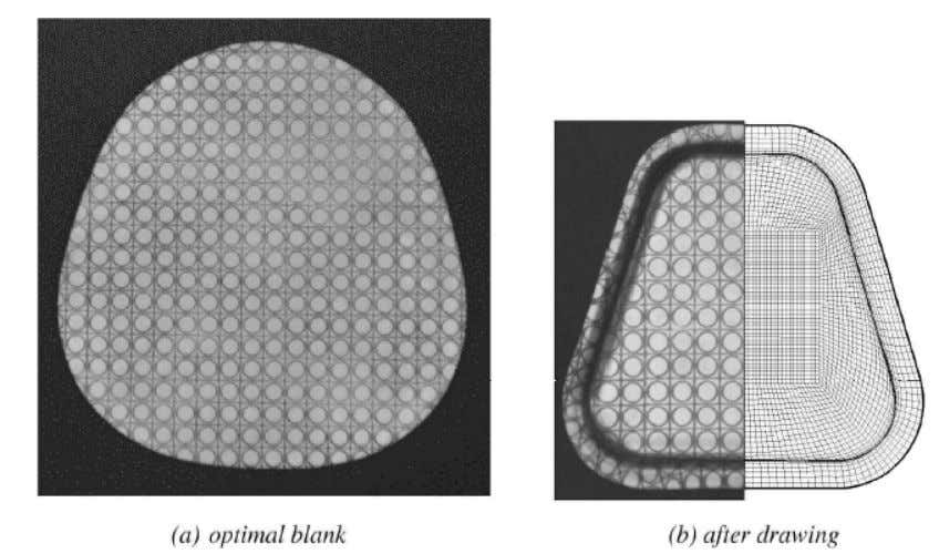 Figure 2.9 Experiment results for the op timal blank (trapezoidal cup) [46] 2.2.7 Summary This