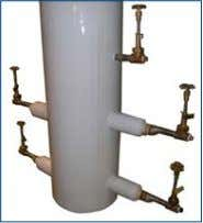 if liquid filling large quantities from Siphon 100 tank. Vacuum insulated pod & extended legs provides