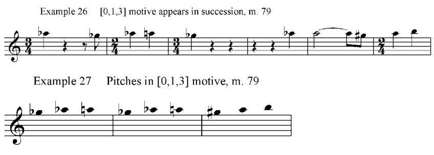 79, shown in examples 26 and 27, although it has been transposed up a whole step.
