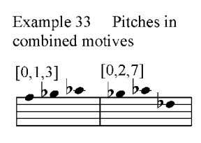 as seen earlier in the piece, yet quickly returns to the combined motive again in measure