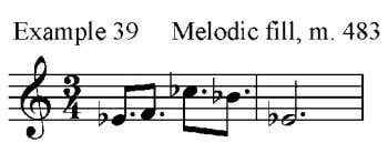 melodic fill appears in measure 483 in the tenor saxophones, baritone saxophone, and trumpets 3 and