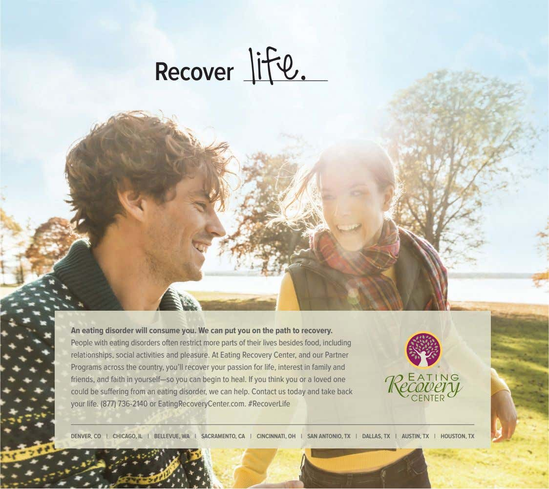 Recover life. An eating disorder will consume you. We can put you on the path