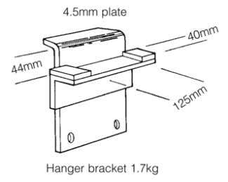 - 4 724 31.2 BOX FLOOR CENTRE HANGER BRACKET Eliminates shoring by using the walls to