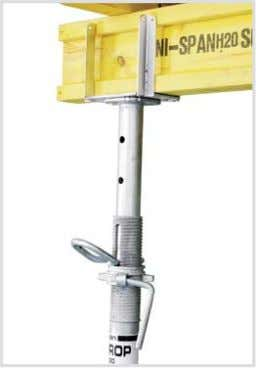FORK HEAD SPIGOT Is used to keep the main bearers centrally positioned over the props.