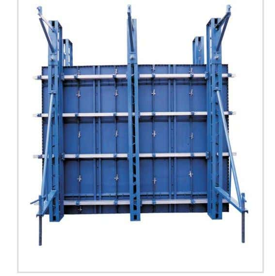 WALLING SYSTEM - ERECTION PROCEDURE Steel faced economy panels and single channel aligning walers including form