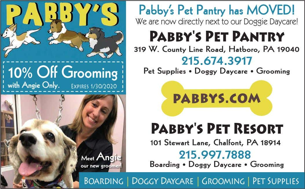 Pabby's Pet Pantry has MOVED! We are now directly next to our Doggie Daycare! Pabby's