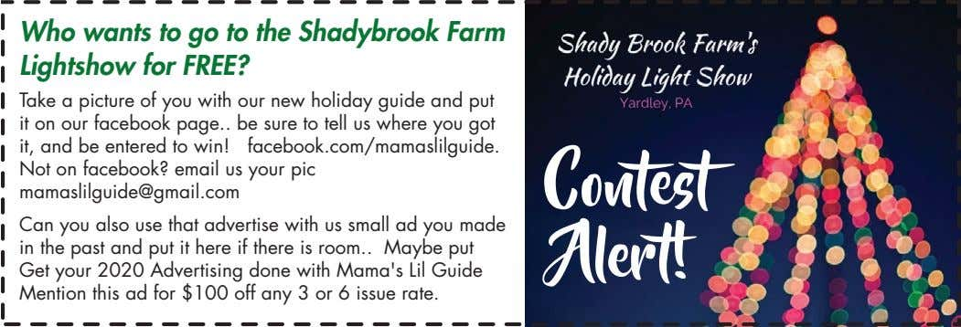 Who wants to go to the Shadybrook Farm Lightshow for FREE? Take a picture of