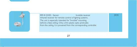 IRR 8125/00 - Sensor Invisible receiver 3970 Infrared receiver for remote control of lighting systems.