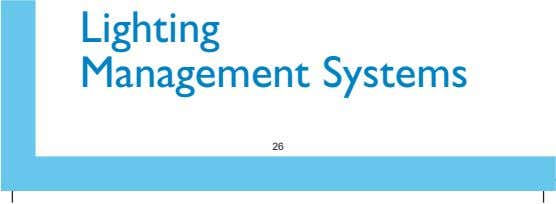 Lighting Management Systems 26