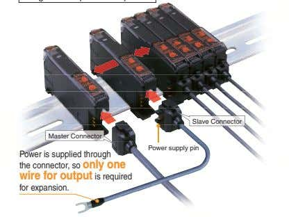 Slave Connector Master Connector Power supply pin Power is supplied through the connector, so only