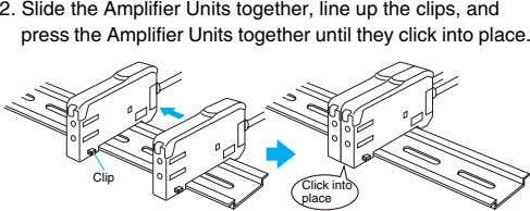 2. Slide the Amplifier Units together, line up the clips, and press the Amplifier Units