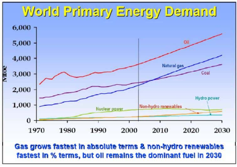 in 2005. Figure 2.1: World Primary Energy Demand to 2030 Source: IEA World Energy Outlook Jan.