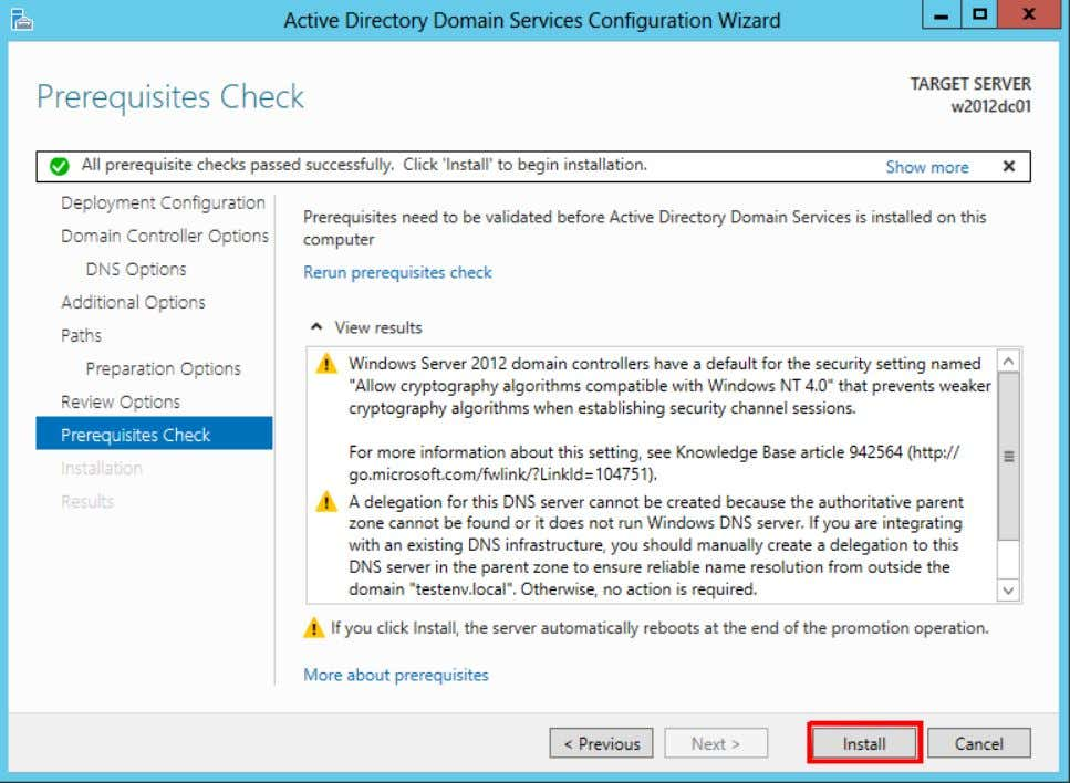 19. After it completes the required tasks and the server restarts, the new Windows Server 2012